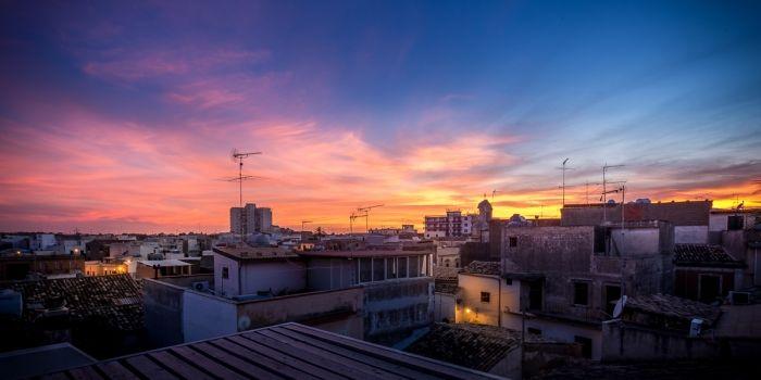 Sunset over Noto