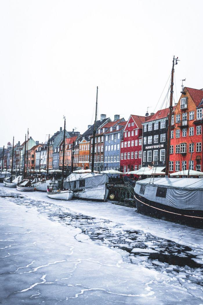 Neige à Copenhague