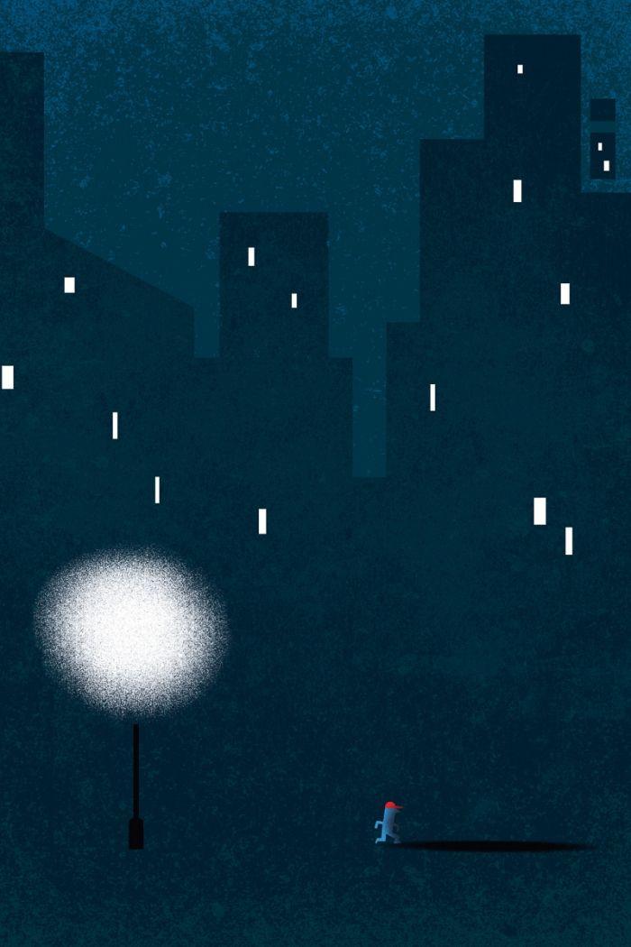 SEUL dans la nuit