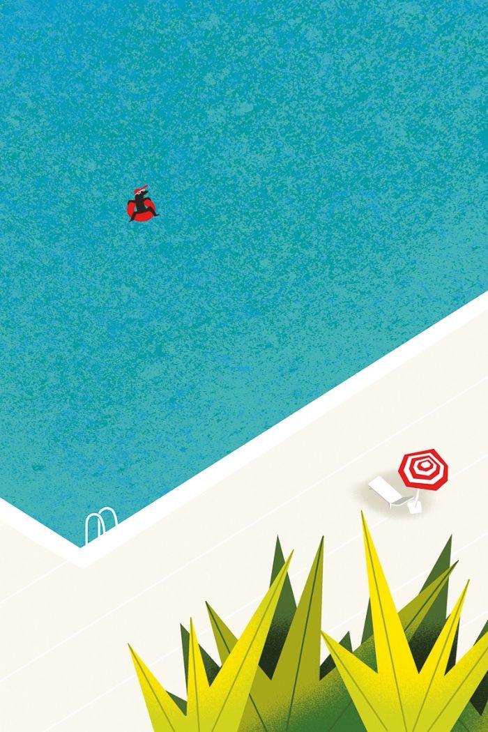 SEUL dans la piscine