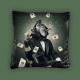Coussin Singe Poker - Sylvain Binet